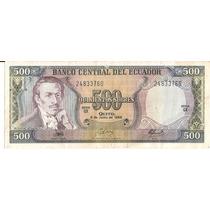 Billete De Ecuador 500 Sucres De 1988