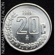 Moneda De Mexico 20 Centavos 2009 - Sin Circular