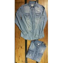 Camisa De Jeans Para Mujer Con Broches.!