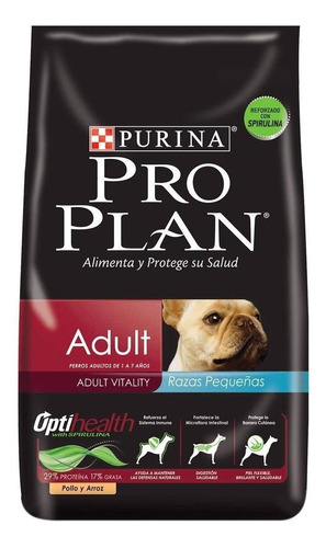 Alimento Pro Plan Adult Perro Adulto Raza Pequeña Pollo/arroz 3kg
