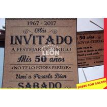 Busca Tarjeta Invitacion Aniversarios 70 50 80 Anos Sobre
