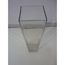 Florero Empake Rectangular Vidrio Decoracion Diseño