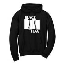Buzo Estampado Personalizado Black Flag Punk