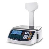 Balanza Comercial Digital Systel Cuora Max 30 Kg Con Mástil 110v/220v Blanco