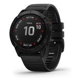 Reloj Garmin Fenix 6x Pro Negro Malla Negra Gps Smartwatch