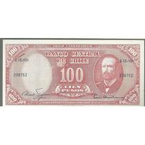 Chile 100 Pesos Con Sello 10 Centesimos