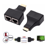 Alargue Hdmi Extensor 20 25 30 Mts Largo Utp Rj45 Full Hd 3d