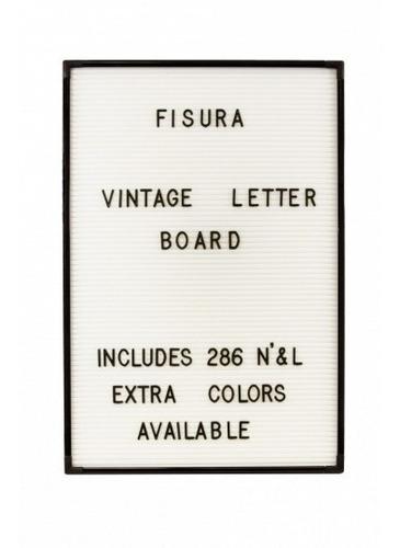 Cartelera Cartel Vintage Pizarra Con Letras Fondo Blanco En