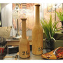 Botella Madera Decoratica Vintage Con Estampa