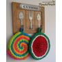 Agarraderas Tejidas A Crochet - Regalo Ideal Día Del Maestro