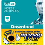 Eset Nod32 Antivirus V12 2019 Para 1 Pc 2 Años Windows / Mac