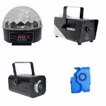 Bola De Leds Minimoon Laser Big Dipper S10 Y Maquina De Humo