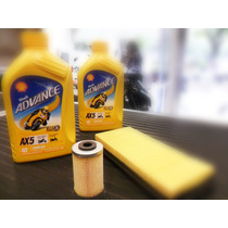 Combo 7 Rouser 200ns Filtro Aceite+aire+2 Ax5 Lidermoto