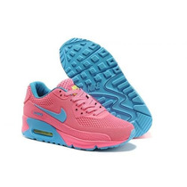 Zapatillas Air Max 90 Rosas Super Exclusivas!!! Ultimas 37
