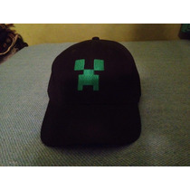 Gorra Minecraft Creeper Bordada Excelente Bordado Verde