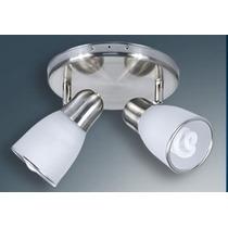 Artefacto Aplique Plafon 2 Luces Blanco Ideal Bajo C. N1