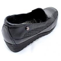 Zapato Dama Liviano Con Plantilla Confort Color Negro Barker