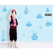 Vinilos Decorativos Infantiles Barcos Nautica Bebe Nene
