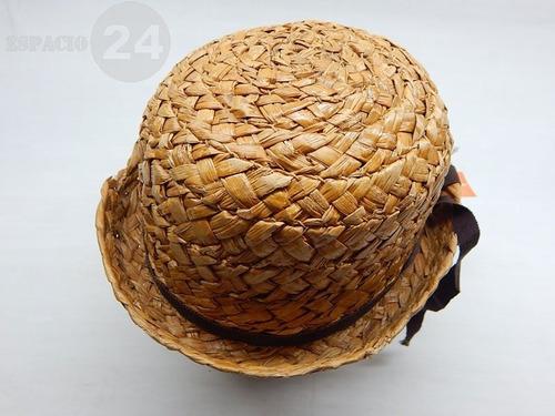 46e8129b8b79c Sombrero Antiguo Dama De Fibra Vegetal Gruesa Color Natural