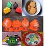 Molde Cortante Galletitas Fondant Expulsor Angry Birds X4