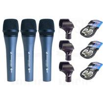 Oferta! Combo X3 Microfonos Sennheiser E835 Profesional + 3