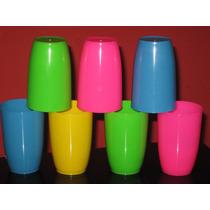 50 Vasos Plasticos Reforz. Irrompibl. Ideal Para Tu Fiesta