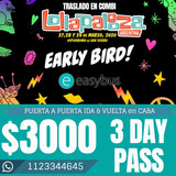 Combis Charter Lollapalooza 2020 3 Day Pass Puerta A Puerta!