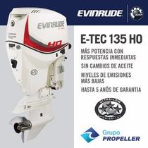 Motor Nautico Fuera De Borda Evinrude Etec 135ho 5 Años Gtia