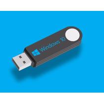 Windows 10 Pro C/ Licencia Original 2 Pc En Pendrive De 16gb