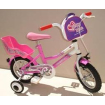 Bicicleta Infantil Niña - Musetta Betty Blue - Rod 12