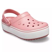 Crocs Crocband Con Plataforma Rosa Mujer Original Entrega Ya