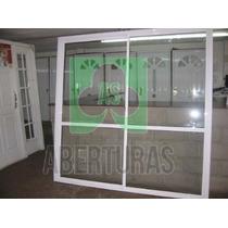 Aberturas Ventana Balcon Alum Blan Entero 2,40x2,00 C/vidrio