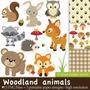 Kit Imprimible Animales Del Bosque 3 Imagenes Clipart
