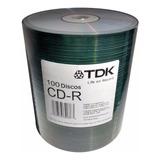 Cd Tdk Estampado 52x 700mb 80 Minutos Bulk X100 Unidades