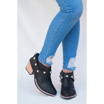 Botas Texanas Botinetas Taco Zapato Moda Mujer Invierno 2018