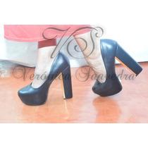 Zapatos Mujer Clasicos Taco Ancho