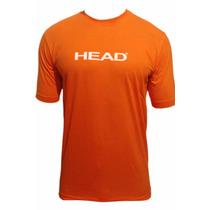 Remera Manga Corta Head Naranja Branding T-shirt Hombre