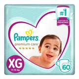 2 Pack Pañales Pampers Premium Care Mensual Todos Los Talles