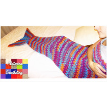 Manta Sirena Crochet
