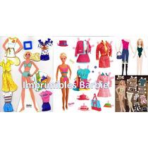 Imprimible Muñeca Barbie Para Recortar Y Vestir Ropa Barbie