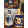 Par De Botellones Jarras Ceramica Pintadas A Mano Uvas