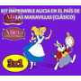Kit Imprimible Alicia En El Pais De Las Maravillas