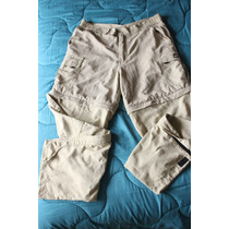 Pantalon Cargo Montagne Largo Desmontable Bermudas Talle M