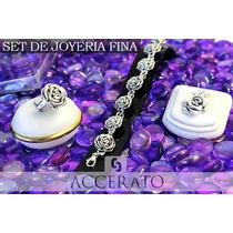 Set·set001 Set Accerato Joyas Dije Anillo Pulsera Plata 925
