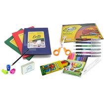 Set Escolar Cuaderno Lapices Marcadores Block Y Mas