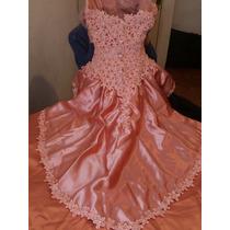 Original Vestido De Novia Color Salmom/durazno