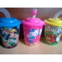 Vaso 3d Mickey Cars Spiderman Tinkerbell Princesas Kitty Ben