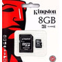 Memoria Micro Sd 8 Gb Kingston Zona Oeste Blister Sellado