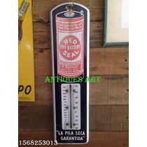 Antiguo Termometro De Publicidad Chapa Enlozada