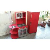 Mueble De Cocina Con Heladera Juguete Para Nenas Con Luces